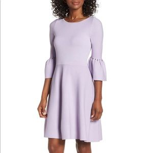 Eliza J Lavender Purple Knit Sweater Dress
